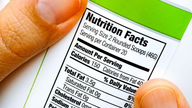 قراءة الملصقات الغذائية التعريفية Nutrition Facts